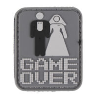 Paintball / Airsoft PVC Klettpatch (Game Over)