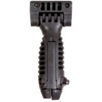Taktischer, ergonomischer Frontgriff mit Zweibein (schwarz)