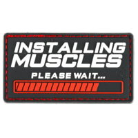 Paintball / Airsoft PVC Klettpatch (Installing Muscles)