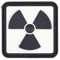Paintball / Airsoft PVC Klettpatch (Radioactive - Glow Back)