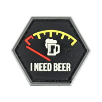 Paintball / Airsoft PVC Klettpatch (I Need Beer)