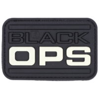 Paintball / Airsoft PVC Klettpatch (Black OPS - Glow In The Dark)