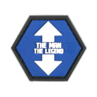 Paintball / Airsoft PVC Klettpatch (The Man The Legend)