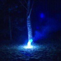 Paintball Bengaltopf / Leuchtsignal gross (blau)
