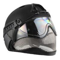 WarQ Fullface Airsoft Schutzhelm (BLACK)
