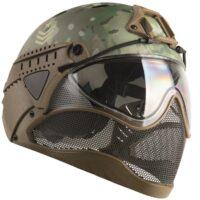 WarQ Fullface Airsoft Schutzhelm (MULTICAM Special Edition)