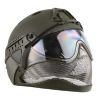 WarQ Fullface Airsoft Schutzhelm (OLIV)