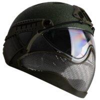 WarQ Fullface Airsoft Schutzhelm (RAPTOR-Green)