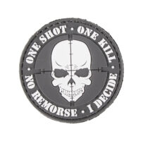 Paintball / Airsoft PVC Klettpatch (One Shot - One Kill)