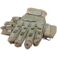 Paintball Vollfinger Handschuhe mit Protektoren (oliv)