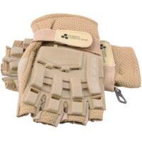 Paintball Halbfinger Handschuhe mit Protektoren (Desert/Tan)