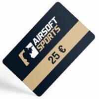 Airsoft Sports Geschenkgutschein / Gutscheinkarte (25,- Euro)