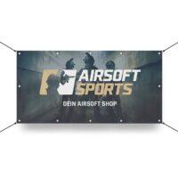 Airsoft Sports Werbebanner 130x70cm (Squad)