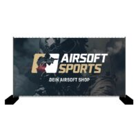 Airsoft Sports Bauzaun-Werbebanner 340x173cm (Operator)