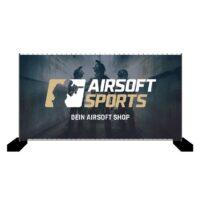 Airsoft Sports Bauzaun-Werbebanner 340x173cm (Squad)
