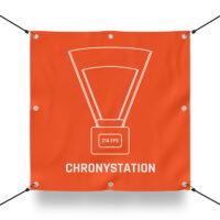 CHRONYSTATION Schild für Paintball Spielfeld / Airsoft Spielfeld (60x60cm)