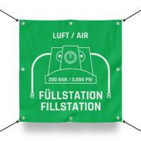 200 BAR FÜLLSTATION Schild für Paintball Spielfeld / Airsoft Spielfeld (60x60cm)