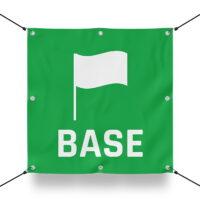 TEAM BASE GRÜN Schild für Paintball Spielfeld / Airsoft Spielfeld (60x60cm)