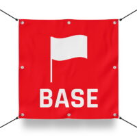 TEAM BASE ROT Schild für Paintball Spielfeld / Airsoft Spielfeld (60x60cm)