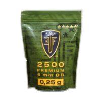 Elite Force Premium Airsoft BB´s im Zipper Beutel (2500stk) 0,25g