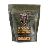 Elite Force Premium Airsoft BB´s im Zipper Beutel (5000stk) 0,20g