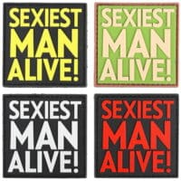 Paintball / Airsoft PVC Klettpatch (Sexiest Man Alive)
