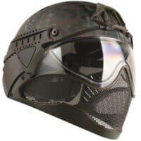 WarQ Fullface Airsoft Schutzhelm (FLECKTARN Special Edition)