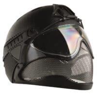 WarQ Fullface Airsoft Schutzhelm (RAPTOR-Black)