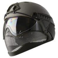 WarQ Fullface Airsoft Schutzhelm (RAPTOR-Grey)