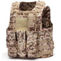 DELTA SIX Tactical Molle Weste mit Taschen (Digital Desert Camo)