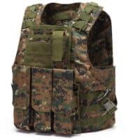 DELTA SIX Tactical Molle Weste mit Taschen (Marpat Camo)