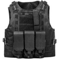 DELTA SIX Tactical Molle Weste mit Taschen (schwarz)
