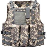 DELTA SIX Tactical Molle Weste mit Taschen (Digital ACU Camo)