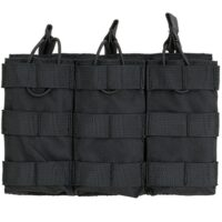 DELTA SIX M16 / M4 / AR-15 XL Magazintasche für Molle System (3er) - schwarz