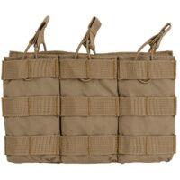 DELTA SIX M16 / M4 / AR-15 XL Magazintasche für Molle System (3er) - desert / tan