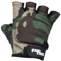 Enolagaye Paintball Halbfinger Handschuhe (Woodland Camo)