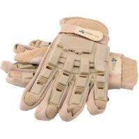 Paintball Vollfinger Handschuhe mit Protektoren (Desert/Tan)