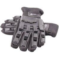Paintball Vollfinger Handschuhe mit Protektoren (schwarz)