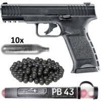 Umarex T4E TPM1 Pistole HOME DEFENCE Kit (schwarz)