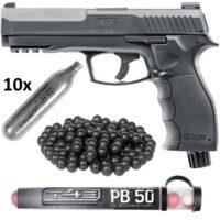 Umarex T4E HDP 50 Pistole HOME DEFENCE Kit (schwarz)