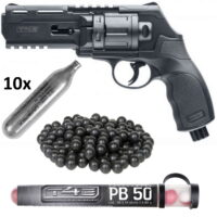 Umarex T4E HDR 50 Revolver HOME DEFENCE Kit (schwarz)