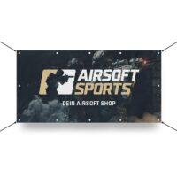 Airsoft Sports Werbebanner 130x70cm (Laser Trooper)