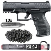Walther PPQ M2 T4E Pistole HOME DEFENCE Kit (schwarz)